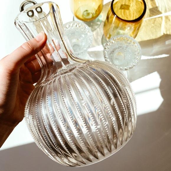Vintage Art Deco Inspired Textured Glass Vase